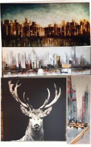 4 toiles / peintures / Canevas de différents formats et styles