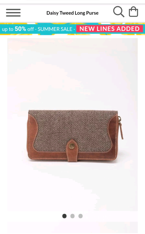 Tweed Purse Rydale Ladies Daisy Long Leather Purse