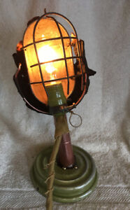 "Hand Grenade Table Lamp ""Last Act Of Defiance"""