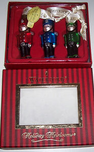 Set of 3 Waterford Holiday Heirloom Toy Soldier Ornaments