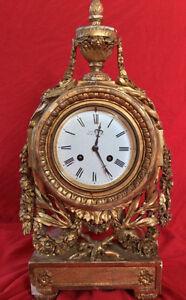 Exquisite Ornate Louis XVI Paul Garnier Mantel Clock c1835