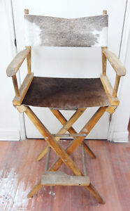 Restored Cowhide Director's Chair
