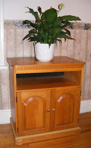 Solid White Oak TV Stand
