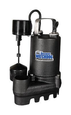 Basement Watchdog Si-50v Submersible Sump Pump, Cast Iron