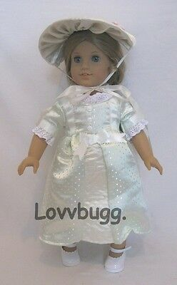 Colonial Summer Dress Set with Hat for American Girl Elizabeth 18