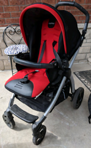 Peg Perego Stroller travel system with infant seat and base