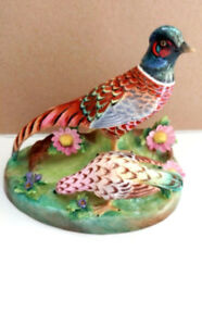 Vintage Crown Staffordshire Fine Bone China Figure of Pheasants