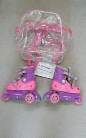 Dunlop Roller skates with carry bag