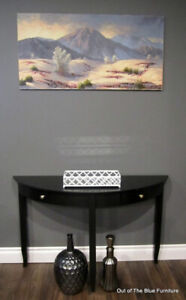Beautiful classic black console entry table/sofa table