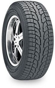 Hankook I pike winter tires and black steel rims