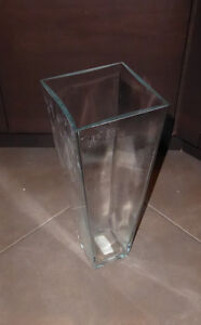 Bigger vase $ 4, various smaller clear glass vases $ 1 ea