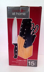 Brand new in box wooden knife block set London Ontario image 2