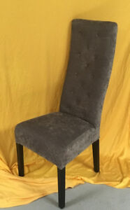 Four Modern Style Grey/black Dining Chairs