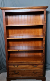 Gorgeous solid acacia wood bookcase with drawers