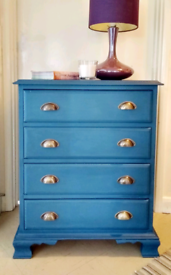 Small Vintage Pine Chest of Drawers 80cm x 65cm