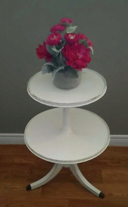 Claw foot two tiered antique table