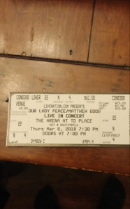 Our Lady Peace/Matthew Good Concert Tickets
