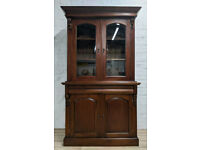 Mahogany Bookcase Over Sideboard (DELIVERY AVAILABLE)