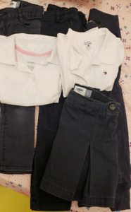 Used 3T and 4T girl polo shirt and pants