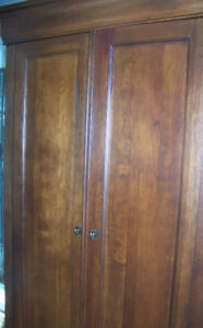Beautiful cherry wood armoire