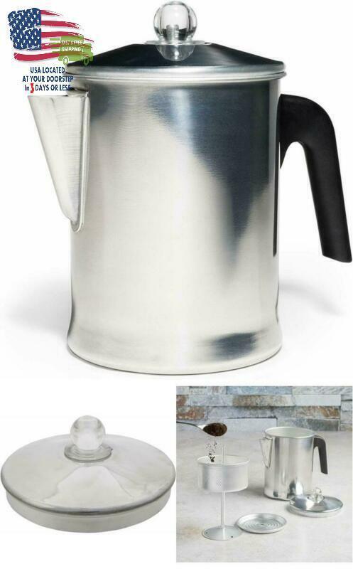 Coffee Percolator Camping Stove Top Pot Aluminium Warmer Uni