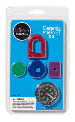 Ceramic Magnet Kit - Horseshoe Bar Ring Disk Latch And Compass
