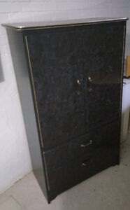 A cabinet with two drawers