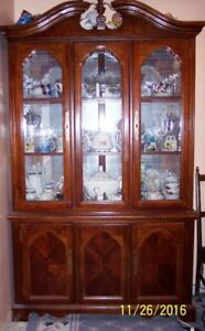 Beautiful Solid Wood & Glass Display Cabinet for Sale