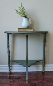 Rustic Green Accent Table