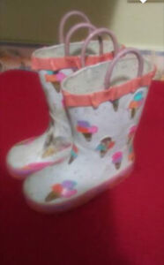 Toddler girls size 7 Rubber boots