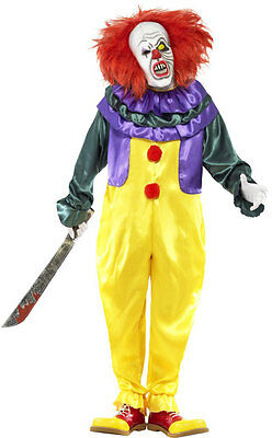 Klassisches Horror Clown Kostüm NEU - Herren Karneval Fasching Verkleidung Kostü