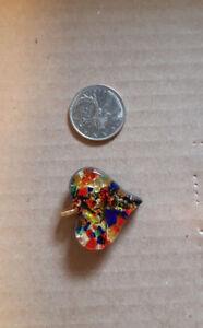 Colourful heart shaped pendant