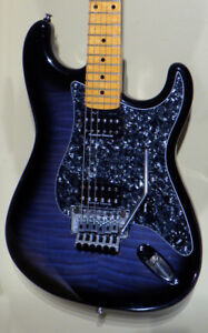 Fender ESP Strat Vintage Plus translucent blue blackburst MIJ