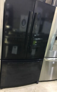 "Whirlpool black french door bottom freezer 36"" Fridge $899"