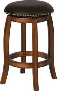 "Courtdale 24"" Leather Swivel Bar Stools..35% OFF!"