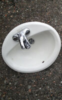 American Standard Porcelain sink with faucet