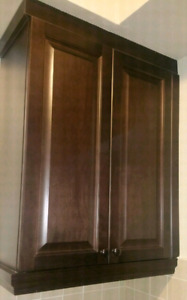 Two upper kitchen cabinets