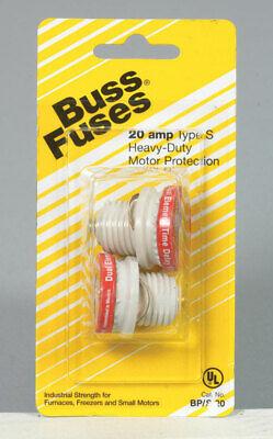 Bussmann  20 amps 125 volts Plastic  Plug Fuse  2 pk
