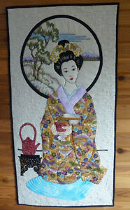 Tea Geisha, Quilted Wall Art