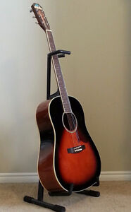 Saga Solid Top Acoustic Guitar with Hard Shell Case London Ontario image 2