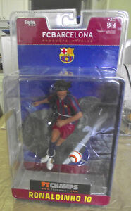 FT Champs Barcelona Ronaldinho & Valdes 6in Action Figures MIB