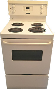 """Apartment size electric stove, Frigidaire , 24""""wide , for sale."""