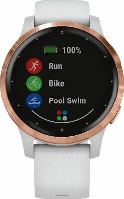 Garmin Vivoactive 4S Weiss-Rosegold Smartwatch Pulsmesser Schritte OVP *NEU*
