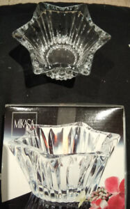 Mikasa Diamond Fire Crystal Votive/Candle holder  - NEW in box