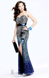 Selling strapless evening dress size 2.. NEVER worn!