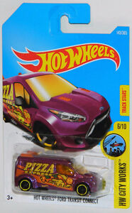 "Hot Wheels 1/64 Ford Transit Connect ""Pizza Express"" Diecast Car"