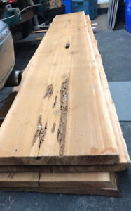 Cedar, Fir and Hemlock Double Live Edge Wood Slabs