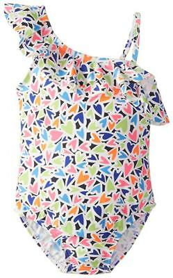 Osh Kosh Girls Multi Colored Heart One Piece Swimsuit Size 4 5 6 ()