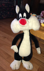 Large 2 Foot Tall Sylvester Pussycat Looney Tunes Vintage Plush