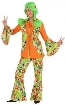 70er 80er Jahre Anzug Kostüm Flowerpower Damen Hippie Perücke Disco Party - 80er Jahre Kostüm Perücken